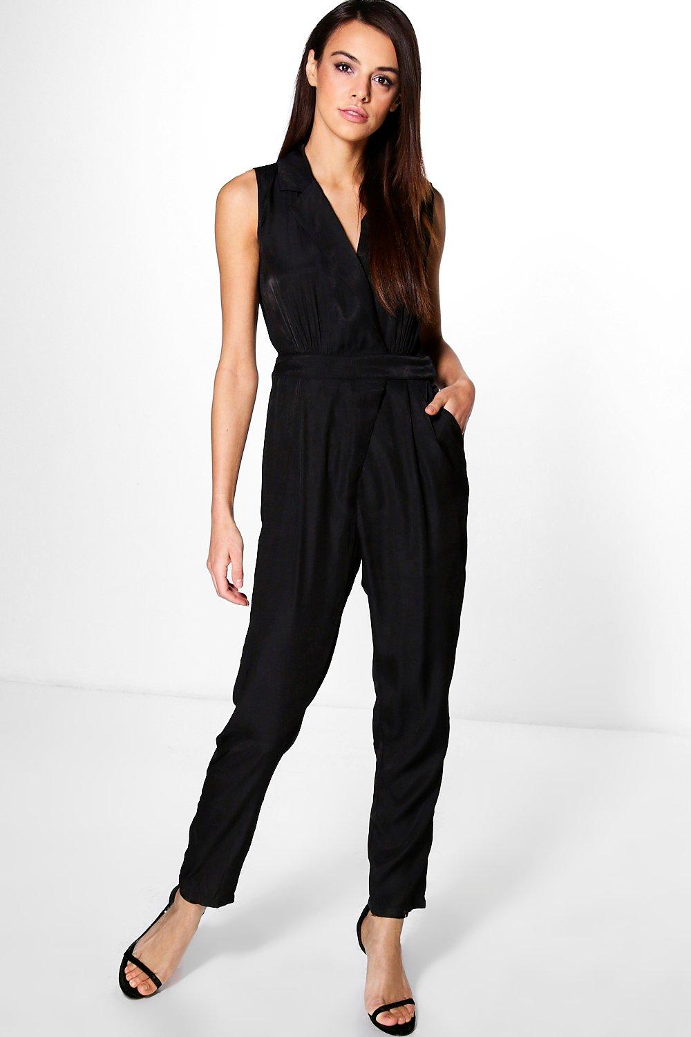 Isla Wrap Over Woven Jumpsuit