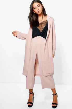 Brooke Woven Tailored Duster & Culotte Set