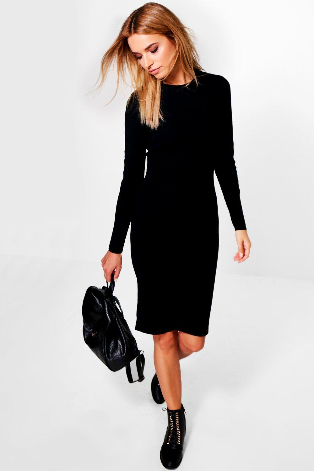 Lily Cut Out Sleeve Detail Jumper Dress