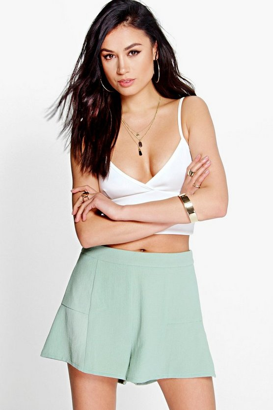 Lucy Solid Colour Woven Shorts