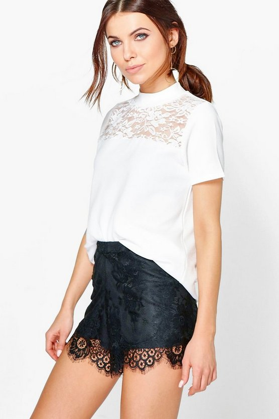Taylor Lace High Neck Top