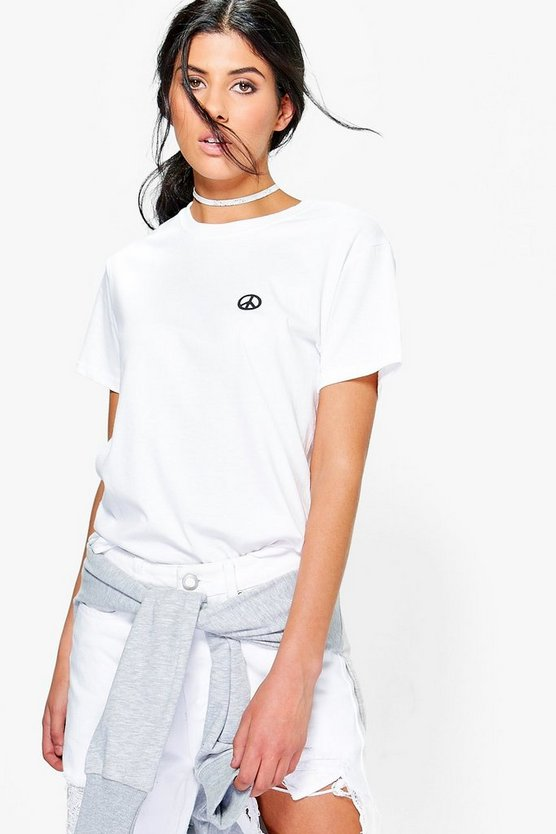 Betsy Peace Sign Tee