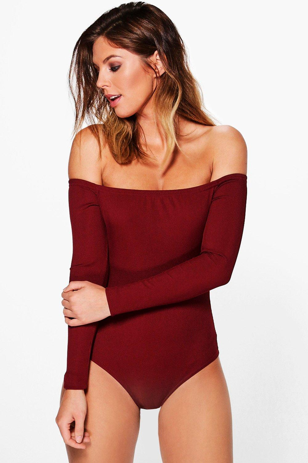 Frances Rib Off The Shoulder Body