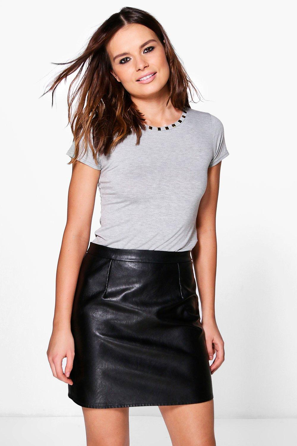 Louise Studded Neck T-Shirt