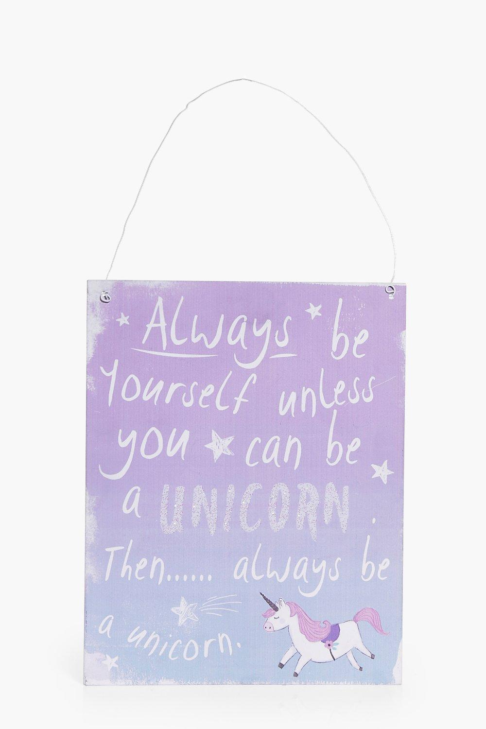 Image of Be A Unicorn Wall Art - multi