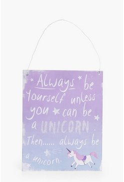 Always Be A Unicorn Wall Art