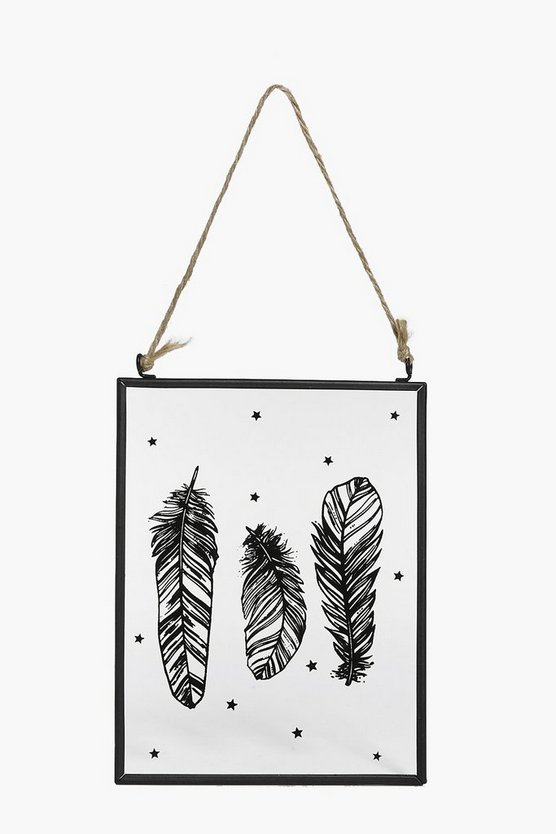 Black Feather Wall Art