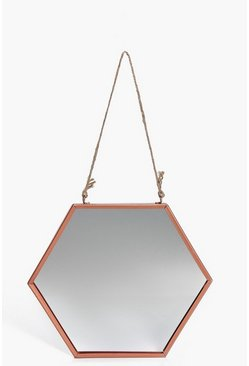 Copper Hexagon Mirror