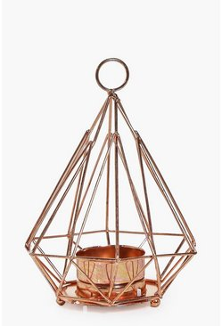 Copper Pyramid Candle Holder