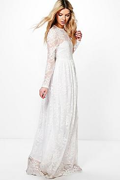 Boutique Lia Sweetheart Lace Maxi Dress