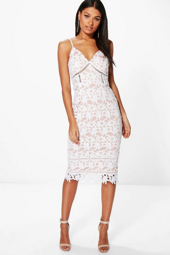 Boutique Anna Corded Lace Midi Dress