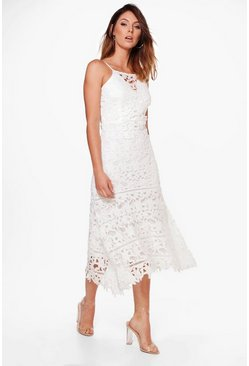 Boutique Mimi Lace Strappy Midi Dress