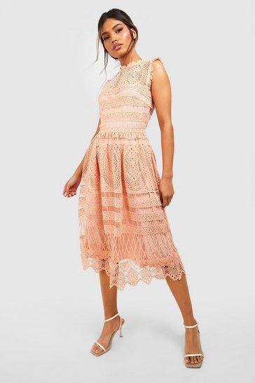 Blush Boutique Lace Skater Bridesmaid Dress