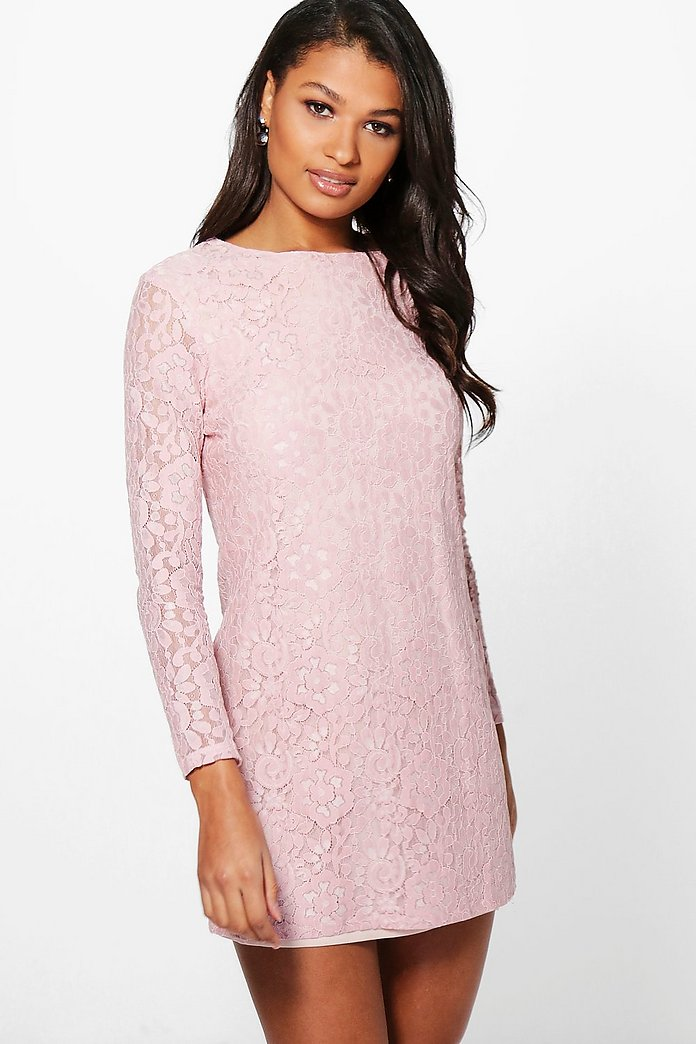 From subtle long lace dresses for the day to black short lace dresses, find the perfect one to suit your style. your browser is not supported. UK 2 (18) UK 4 () UK 6 () UK 8 () UK 10 () UK 12 () UK 14 () UK 16 () UK 18 () UK 20 (53) ASOS DESIGN lace shift mini dress with long sleeves. £