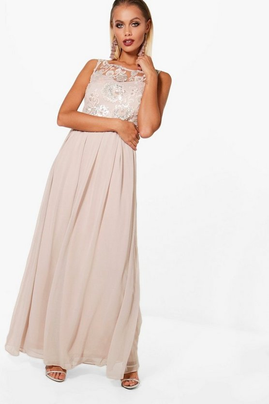Boutique Ali Embellished Top Maxi Dress
