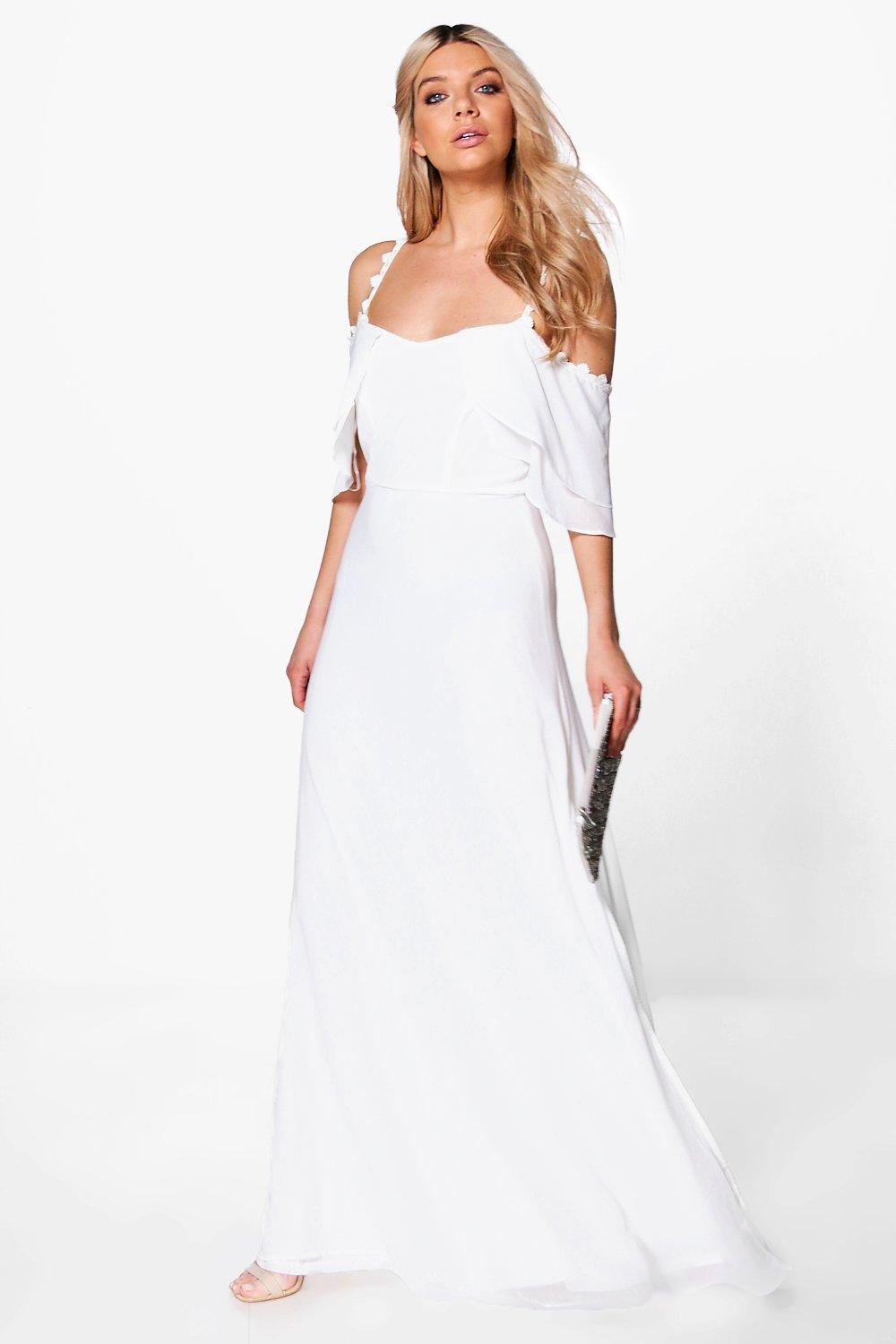 Boutique Cicely Chiffon Frill Maxi Dress