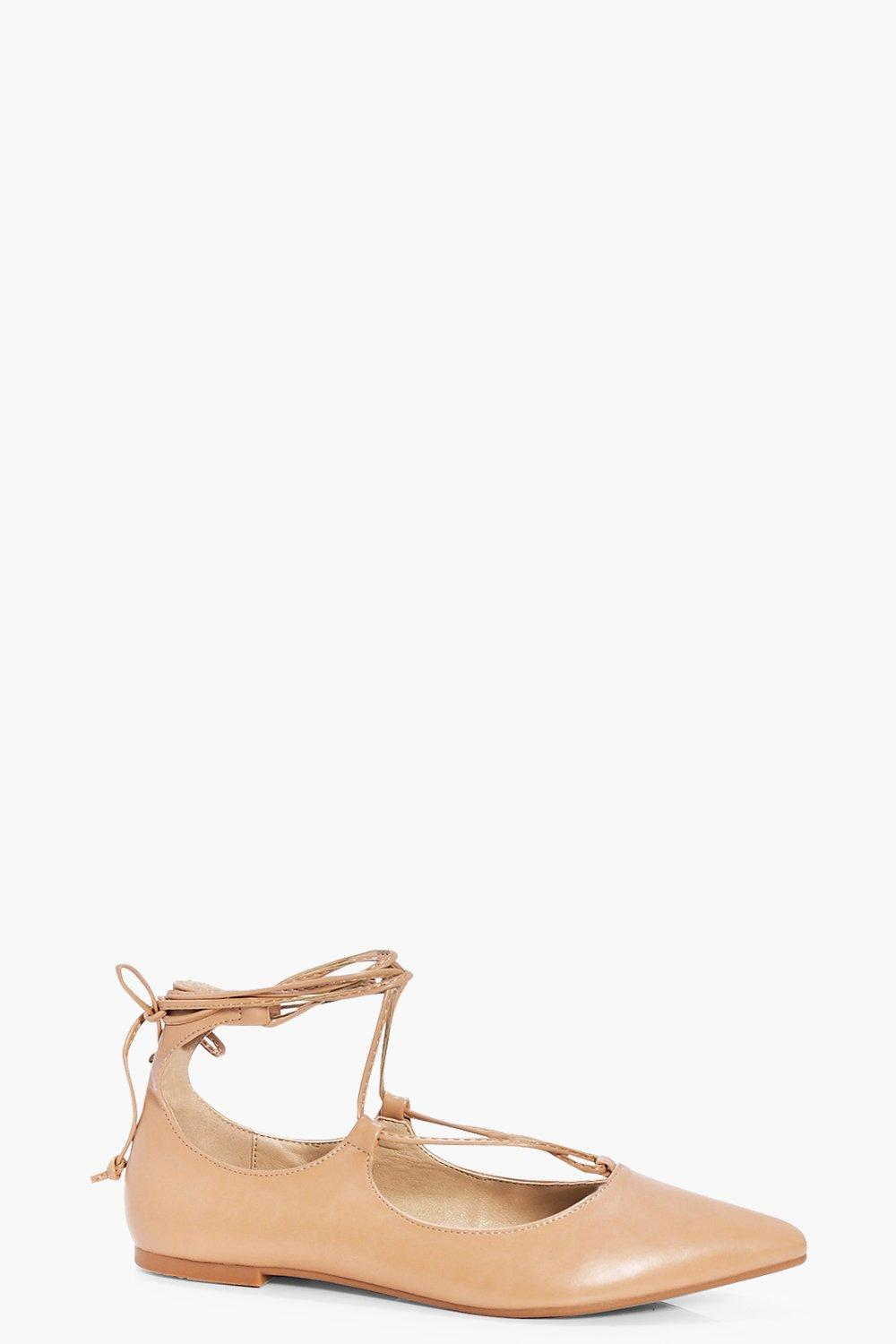 Lily Lace Up Pointed Ballet