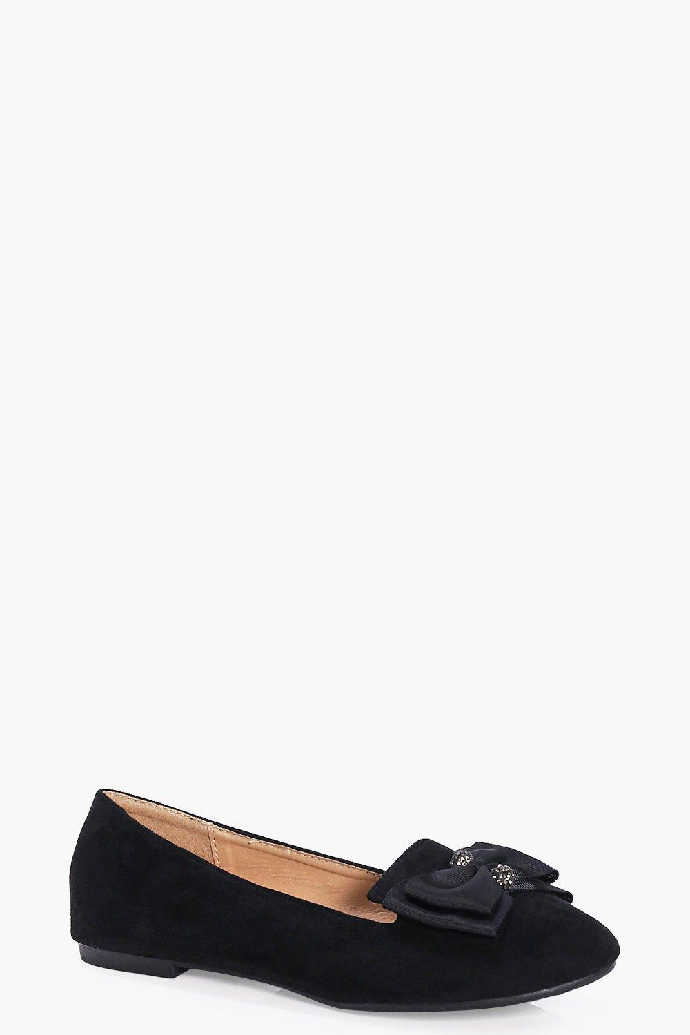 Lucy Bow And Diamante Trim Slipper