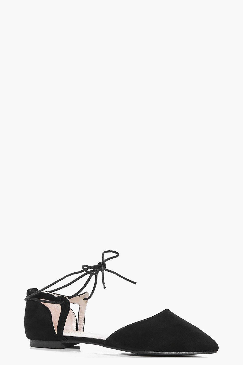 Nancy Pointed Lace Up Ballet