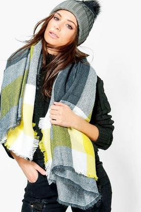 Mia Oversized Supersoft Check Scarf
