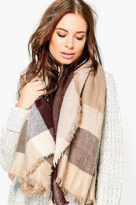 Caroline Oversized Supersoft Check Scarf