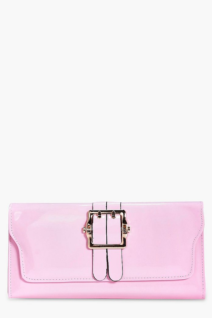 Lydia Buckle Detail Clutch Bag