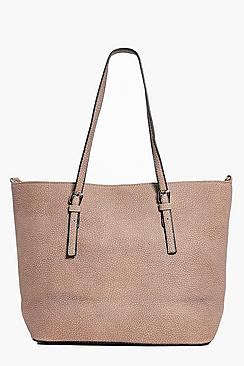 Ruby Structured Buckle Detail Shopper Bag