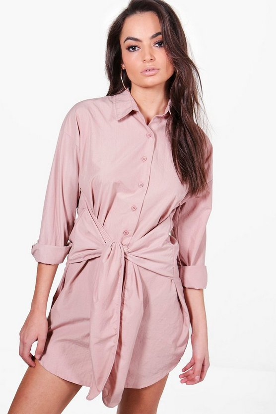 Maddison Tie Front Shirt Dress