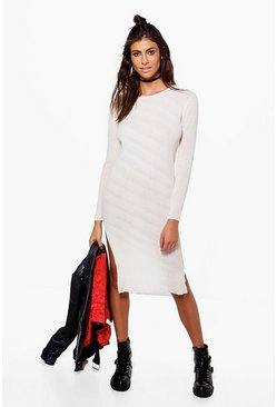 Bridget Dip Front Jumper Midi Dress