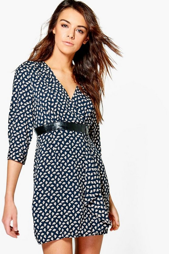 Bethany Printed Wrap Dress