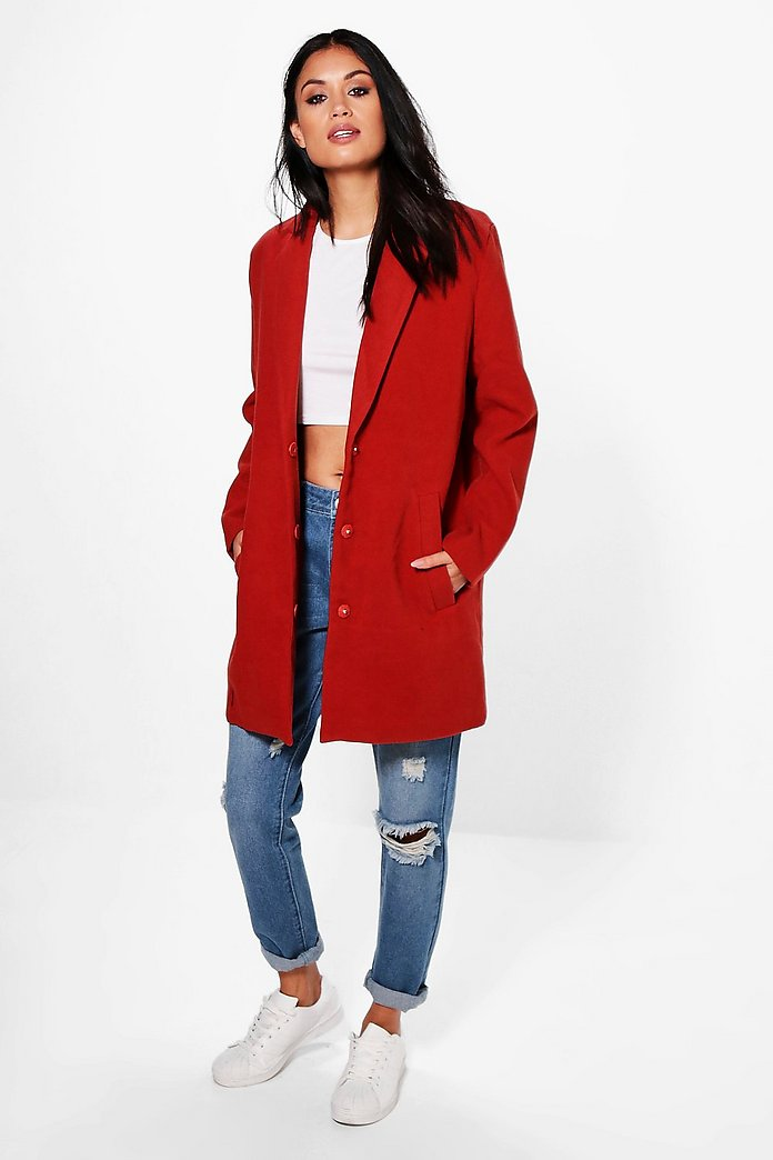 Lexi Wool Look Tailored Coat