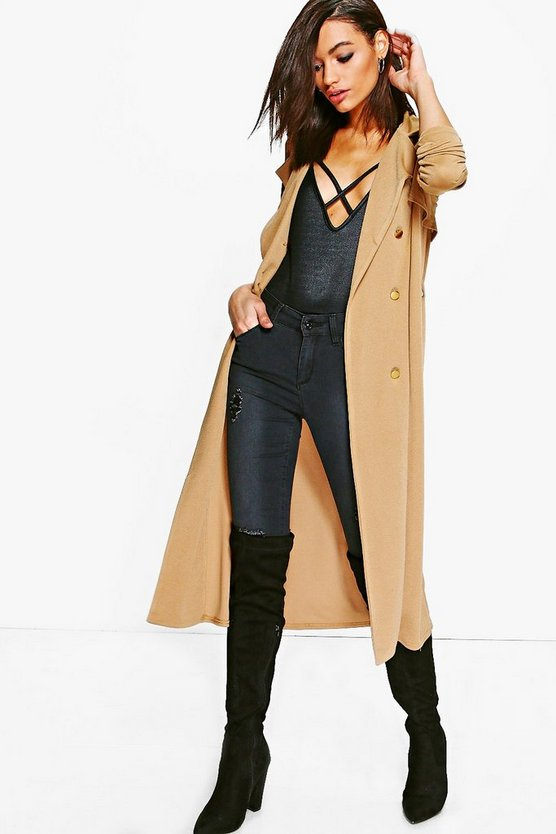 Molly Double Breasted Midi Trench