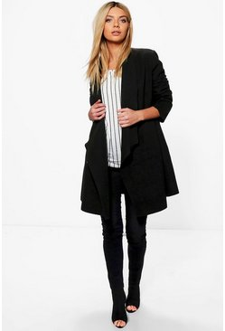 Eleanor Waterfall Wool Look Duster