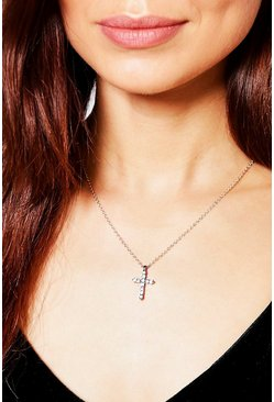 Kara Diamante Cross Pendant Necklace