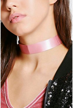Ebony Wide Satin Choker