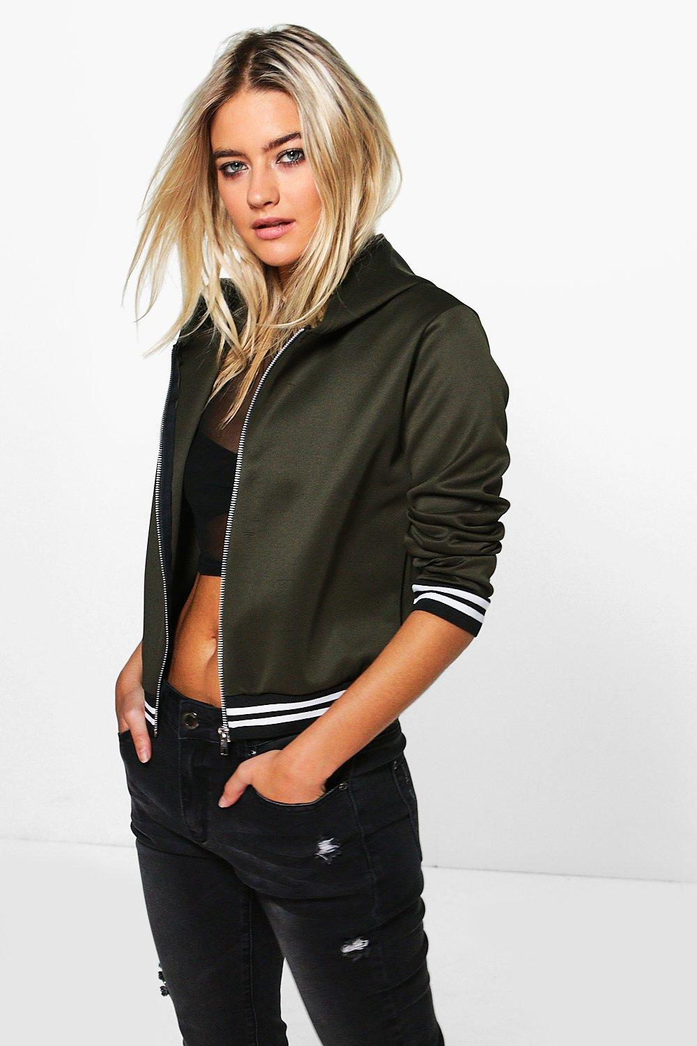 Victoria Hooded Bomber Jacket