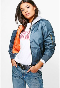Jessica Hooded Bomber Jacket