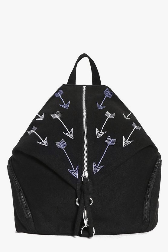 Annie Arrow Embroidered Triangle Backpack