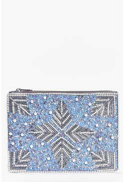 Katherine Bridal Pearl & Sequin Clutch Bag