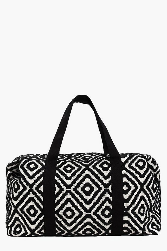 Rose Mono Aztec Oversized Weekend Bag
