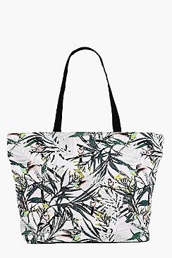 Saskia Botanical Floral Print Day Bag