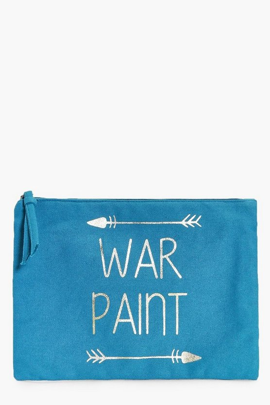War Paint Gold Foil Make Up Bag