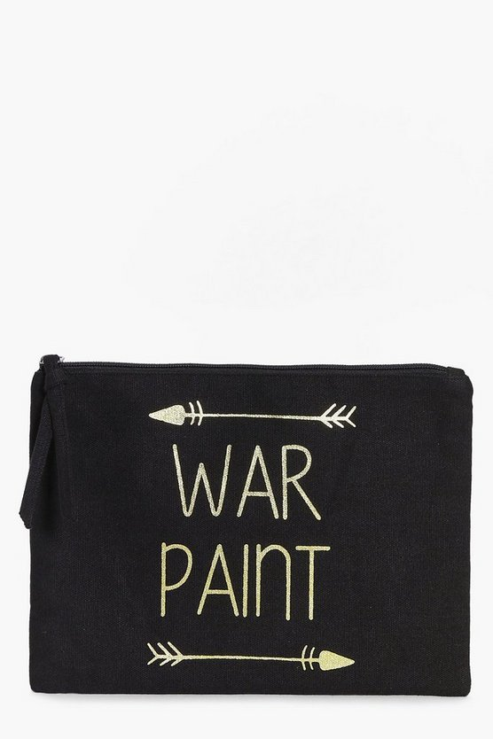 War Paint Foil Print Make Up Bag