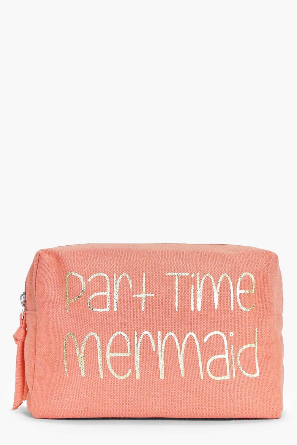 boohoo Time Mermaid Structured Make Up Bag - pink