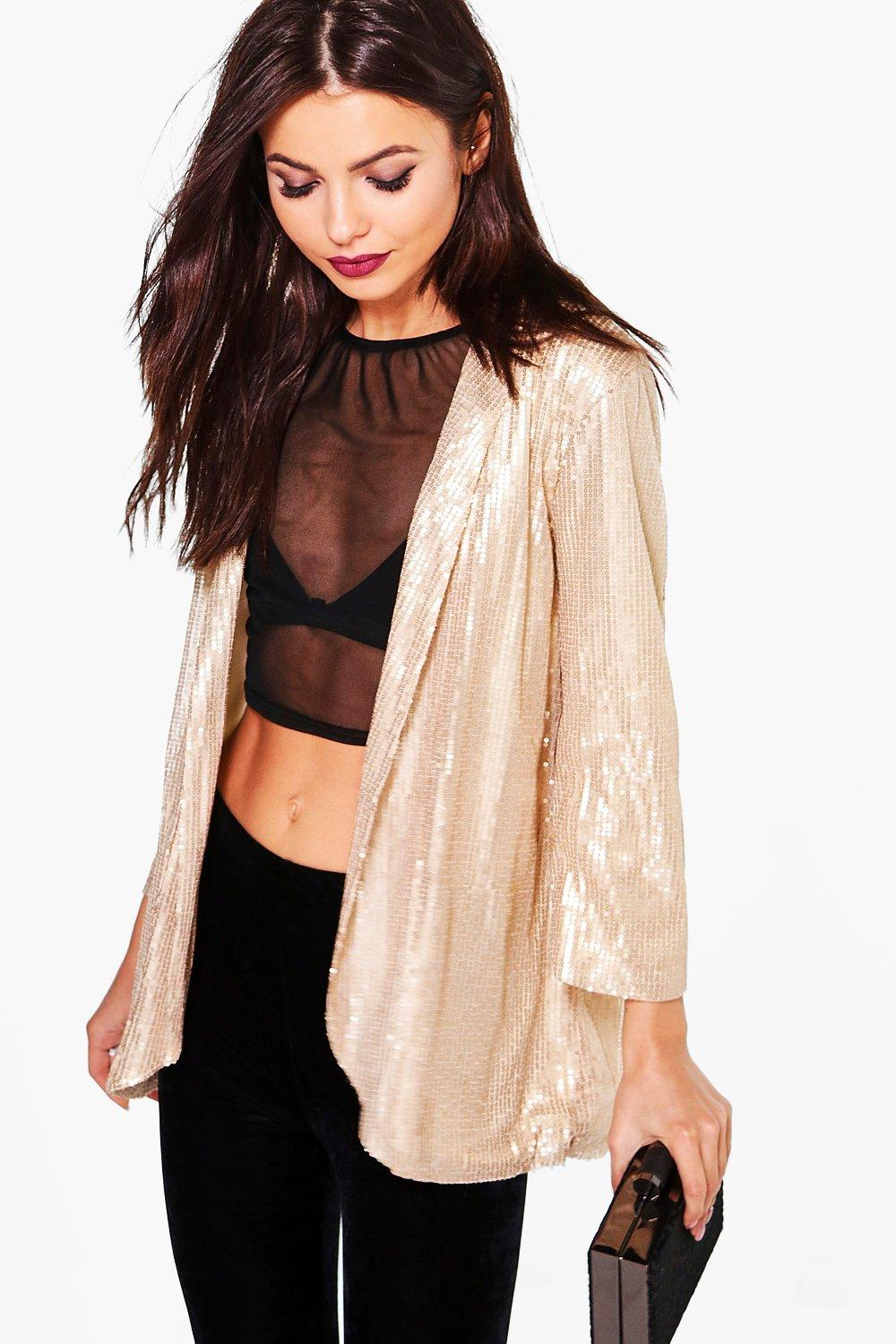 Lily Boutique Sequin Tailored Blazer