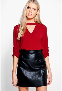 Keeley Cut Out Woven Top