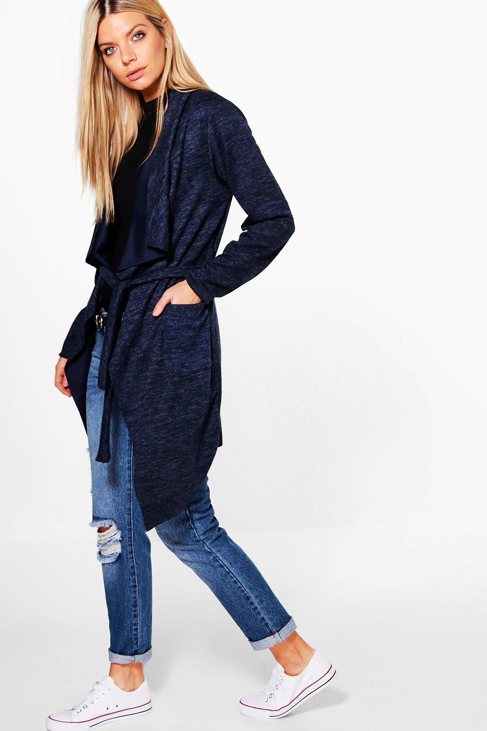 Erin Belted Waterfall Cardigan