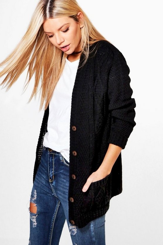 Lauren Cable Knit Cardigan
