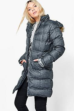 Lola Padded Parka With Faux Fur Hood