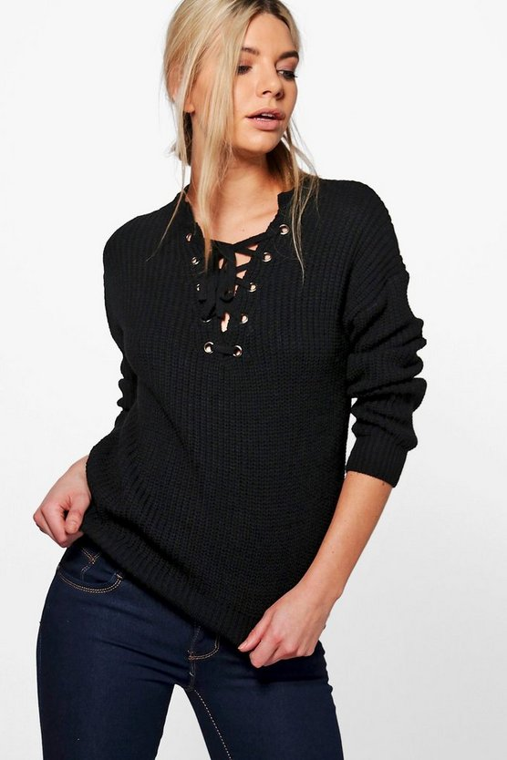 Darcy Lace Front Detail Fisherman Jumper